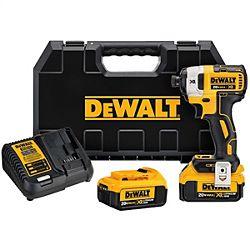 """DeWalt® 20V MAX XR 1/4"""" 3-Speed Impact Driver Kit (4.0AH)"""