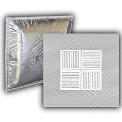 """24"""" x 24"""" Perforated Lay-In Supply Diffuser - White"""