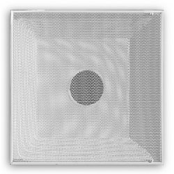 """24"""" x 24"""" T-Bar Perforated Return Grille with 16"""" Collar - White"""
