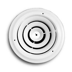 """6"""" Round Ceiling Diffuser - 800 Series - White"""